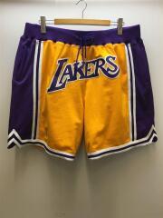 20SS/Just Don Swingman Shorts/Lakers/ショートパンツ/XXL/ポリ/YLW