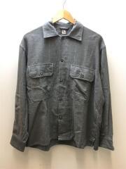 OPEN COLLAR SHIRT/オープンカラーシャツ/長袖シャツ/--/コットン/GRY/KS8FSH04