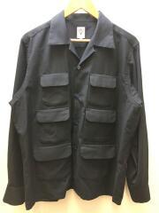 20SS/6 Pocket Classic Shirt/長袖シャツ/GL811/L/ポリエステル/NVY/無地