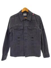 ミリタリー シャツジャケット/長袖シャツ/M/コットン/GRY/TJK-F10SP01