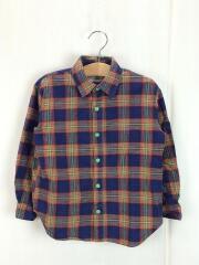 長袖シャツ/120cm/コットン/マルチカラー/チェック