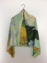 ストール/ウール/マルチカラー/総柄/M70610/モノグラム 西洋絵画 刺繍 ジャカード織り