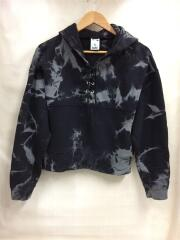 パーカー/2/コットン/BLK/総柄/19AW/BLEACHED LACE UP SWEAT HOODIE/黒