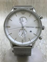 クラシッククロノグラフ/クォーツ腕時計/アナログ/ステンレス/SLV/SLV/AR-0390