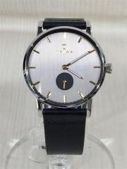 クォーツ腕時計/アナログ/レザー/GRY/BLK/CL010112/SMOKY FALKEN