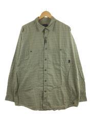 長袖シャツ/M/コットン/KHK/チェック/53835/Pima Cotton Shirt