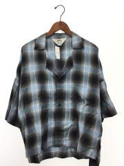 半袖シャツ/3/レーヨン/BLU/オンブレCK/Shadow Check Fried Shrimp Shirt