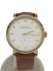 クォーツ腕時計/MBM1316/アナログ/レザー/WHT/BRW