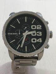 DZ-4209/クォーツ腕時計/アナログ/ステンレス/BLK/SLV/小傷有