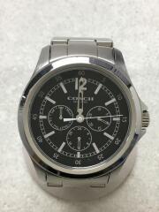 クォーツ腕時計/アナログ/ステンレス/BLK/SLV/小傷有/CA.94.2.95.1198
