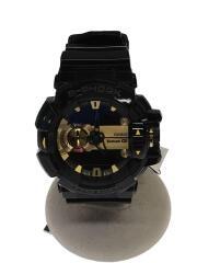 クォーツ腕時計・G-SHOCK/デジアナ/ラバー/GLD/BLK