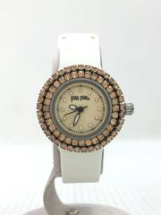 クォーツ腕時計/アナログ/ラバー/BEG/WHT/WF2P010ZS