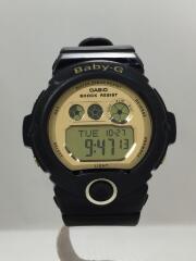 クォーツ腕時計/デジタル/ラバー/GLD/BLK/BG-6901/キズ有