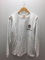 長袖Tシャツ/XL/コットン/WHT/プリント/USA製
