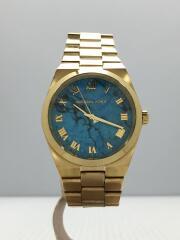 クォーツ腕時計/アナログ/ステンレス/BLU/GLD/MK-5894/小傷多数