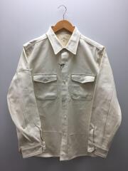 ジャケット/40/コットン/WHT/1120-31435/CPOシャツジャケット/20SS