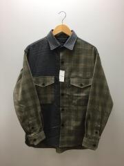 CARREMAN/キャリーマン/クレイジーCPOシャツ/長袖シャツ/L/GRY/20011312301910