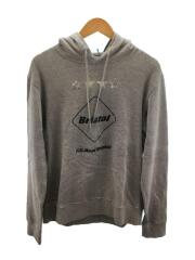 18AW/EMBLEM PULLOVER HOODY/パーカー/L/コットン/GRY/プリント