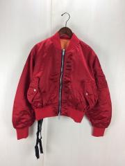UNRAVEL PROJECT/ボンバージャケット/36/ポリアミド/赤/UMEH003S18011017