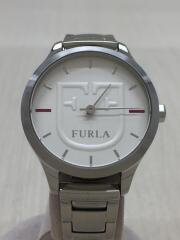 フルラ/クォーツ腕時計/アナログ/ステンレス/4253125501/中古