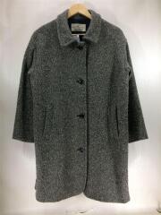 コート/ロングコート/アウター/ウール/GRY/グレー/灰色/レディース/made in JAPAN