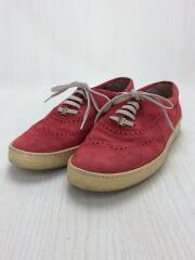 シューズ/UK5.5/RED/レザー/靴ひも色移り有
