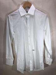 ロゴプレートシャツ/2014年/白シャツ/44/コットン/WHT