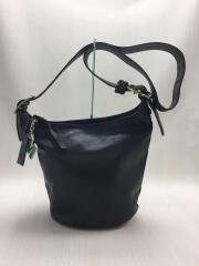 Duffle Bleeker Handbag/ダッフルブレーカー/ショルダーバッグ/サドルレザー/BLK