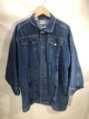 ロング丈Gジャン/90S/L/コットン/BLU/無地