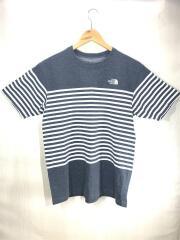 NT31514 Tシャツ/L/コットン/GRY/ボーダー