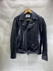 ダブルライダースジャケット/--/羊革/BLK/vintage leather riders jacket/