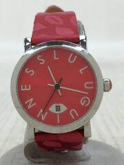クォーツ腕時計/アナログ/RED