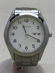 クォーツ腕時計/アナログ/ステンレス/WHT/SLV/7N43-9080