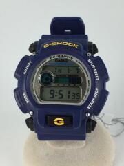 ソーラー腕時計/デジタル/ラバー/SLV/BLU