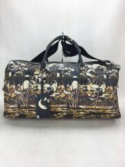 travel bag/ボストンバッグ/レザー/カーキ/総柄/VS0349