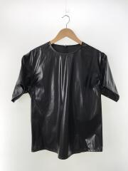 2020年SSモデル/Black Coated Zipped Blousブラウス/36/ポリエステル/ブラック