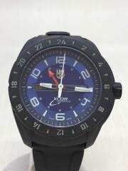 クォーツ腕時計/アナログ/ラバー/ブルー/ブラック/GGL.L5023.XS