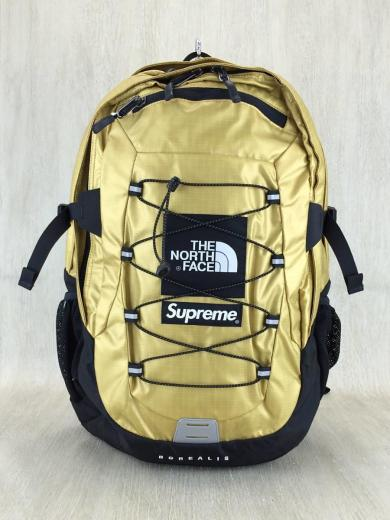 1b7f24ee6 18ss/Supreme The North Face Metallic Borealis Backpack GOLD