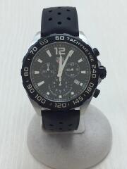 クォーツ腕時計・フォーミュラ1クロノグラフ43MM/アナログ/ラバー/BLK/BLK/ダイバーズ FORMULA1