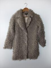2018年製/ループFaux Fur Ct/コート/S/ポリエステル/GRY/無地/110BS930-006