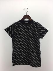 ALLOVER LOGO PRINT T/Tシャツ/XS/コットン/BLK/総柄/571213