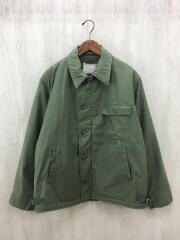 70s/N-1/デッキジャケット/ミリタリージャケット/L/コットン/KHK