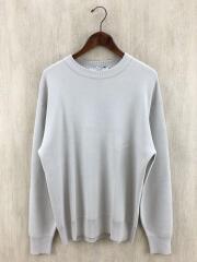 セーター(薄手)/M/コットン/グレー/タグ付