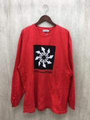長袖Tシャツ/M/コットン/RED