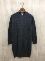 長袖ワンピース/38/ウール/GRY/ニットワンピース/タグ付