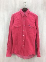 長袖シャツ/15.5/コットン/RED/USA製/ウエスタンシャツ