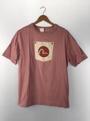 エヴィス/カモメプリントTシャツ/Tシャツ/XL/コットン/PNK