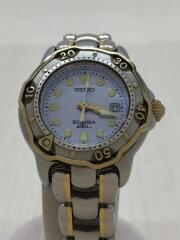 セイコー/ダイバーズウォッチ スキューバ200/クォーツ腕時計/アナログ/ステンレス/BLU