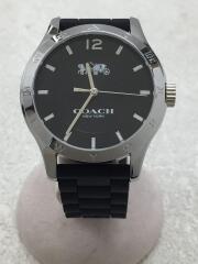 マディー/クォーツ腕時計/14502218/アナログ/ラバー/BLK/BLK