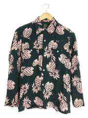 One-up Cowboy Shirt Pineapple/EJ179/XS/レーヨン/BLK/総柄